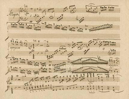 L. v. Beethoven, Klavierkonzert Nr. 5, Klavierstimme, Kopistenabschrift