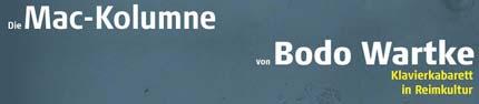 Die Mac-Kolumne von Bodo Wartke