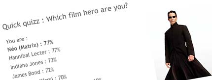 Which film hero are you?