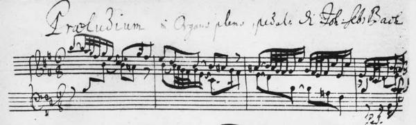 J. S. Bach, Präludium h-moll BWV 544 – Autograph?