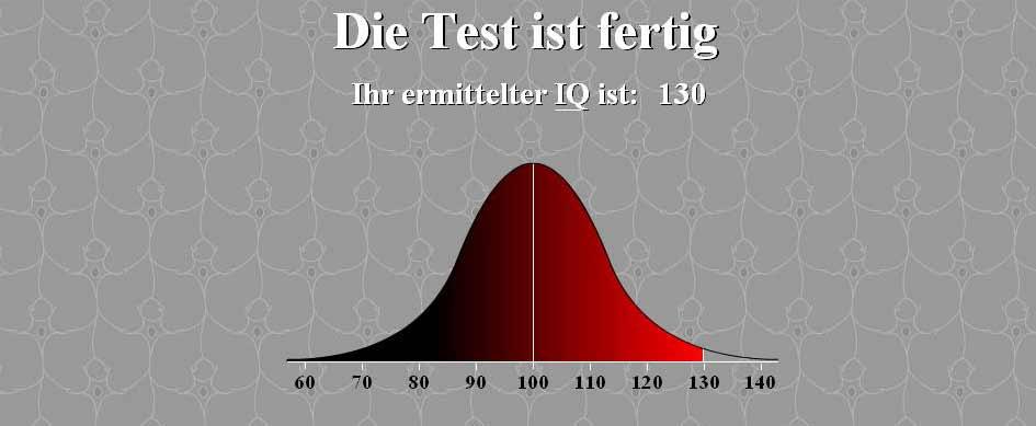IQtest.dk – Ergebnis: 130