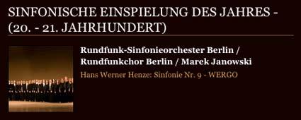 Rundfunkchor Berlin ECHO Klassik 2010 Henze