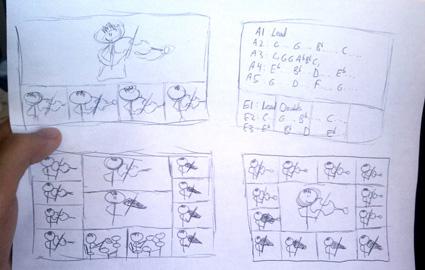 Jason Yang Skizze/Storyboard