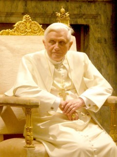 Pope Benedictus XVI at a private audience (January 20, 2006)