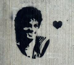 'Michael Jackson Stencil' by Colette Saint Yves