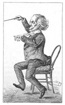'Die Zukunftsmusik' Wagner-Karikatur aus: Vanitiy Fair, London 1877