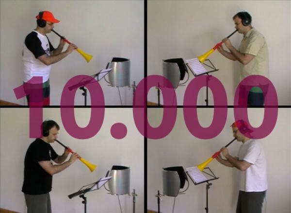 10.000 Klicks auf das Vuvuzela-Video!