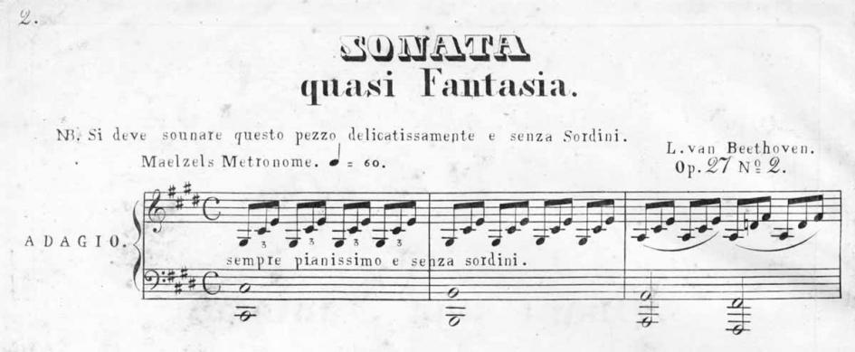 L. van Beethoven, Klaviersonate op. 27 Nr. 2 cis-Moll – Mondscheinsonate