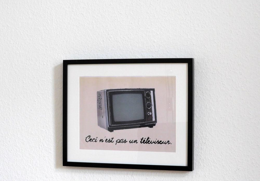 René Magritte(?): Ceci n'est pas un téléviseur