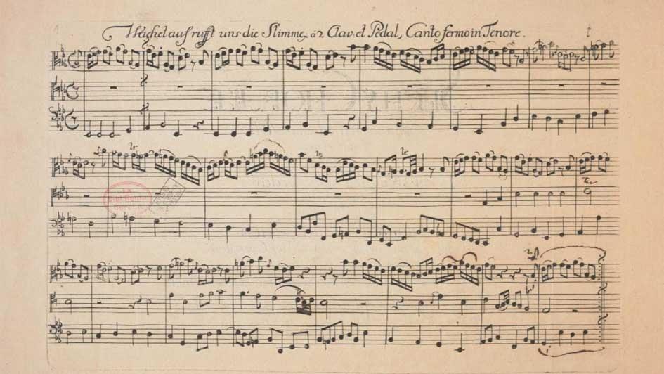 Wachet auf, ruft uns die Stimme, BWV 645, Erstdruck