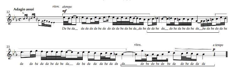 BWV 622 • Sopranstimme • Auszug • Transkription: David Stingl